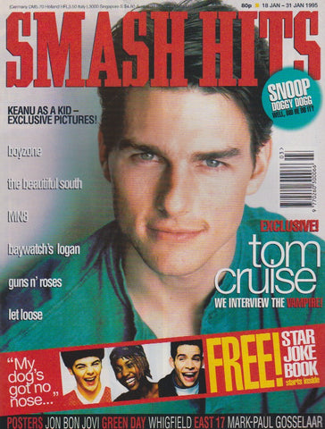Smash Hits Magazine - Tom Cruise