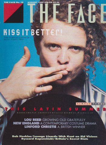 The Face 76 August 1986 - Mick Hucknall Simply Red