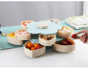 Double-layer rotating fruit bowl