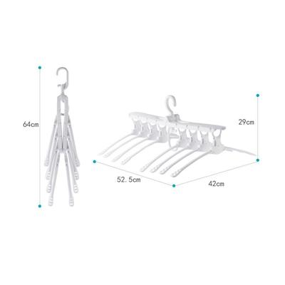 Wardrobes Plastic Folding Non-slip Hangers Lazy folding drying rack 360 Degree Foldable Magic Hangers
