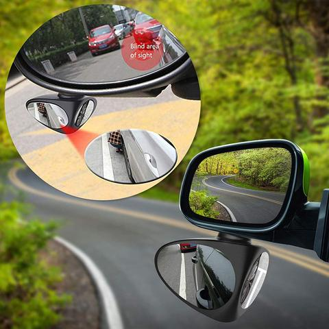 Car Side Mirror HD Crystal Glass Dual Angle Blind Spot Mirror  Car blind spot mirror