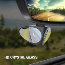Load image into Gallery viewer, Car Side Mirror HD Crystal Glass Dual Angle Blind Spot Mirror  Car blind spot mirror