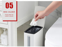 Load image into Gallery viewer, Plastic Trash Can with Toilet Brush Set