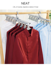 Load image into Gallery viewer, Wardrobes Plastic Folding Non-slip Hangers Lazy folding drying rack 360 Degree Foldable Magic Hangers