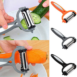 Smart kitchenware : Multifunctional 360 Degree Rotary Carrot Potato 3 in 1 Multi-function scraperMelon planing
