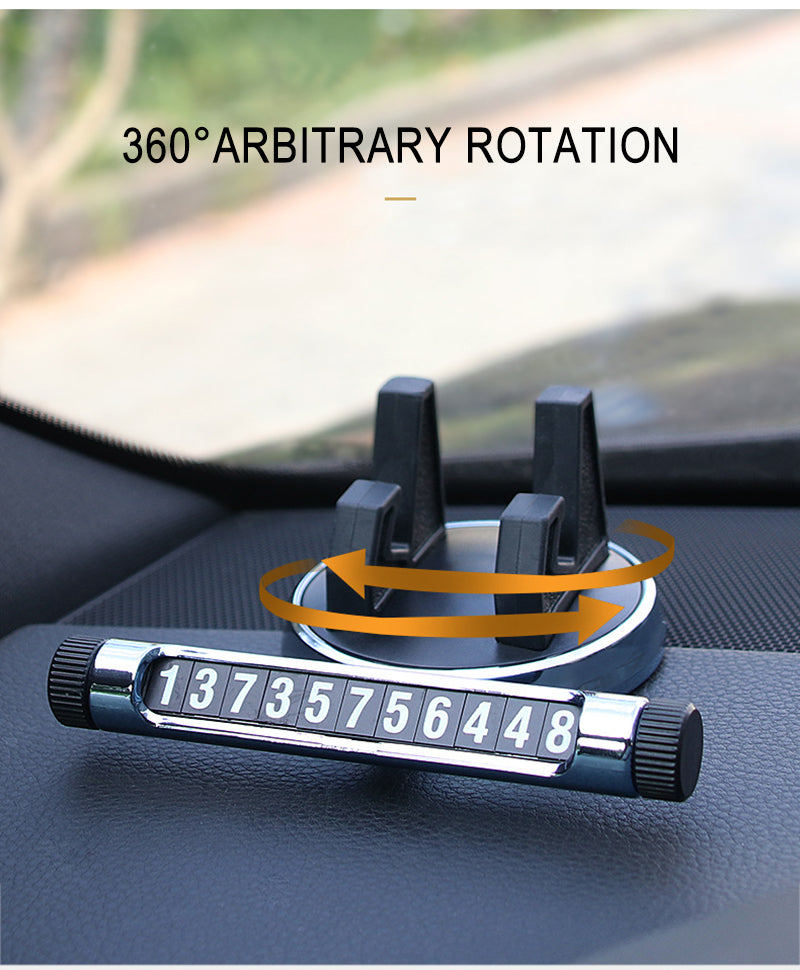 Car phone holder, car phone number plate