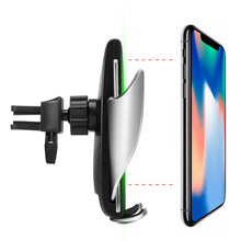 Load image into Gallery viewer, Car sensor bracket wireless charging Wireless Car Charger Automatic Clamping -  Fast Car Charging Mount
