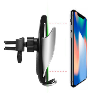 Car sensor bracket wireless charging Wireless Car Charger Automatic Clamping -  Fast Car Charging Mount