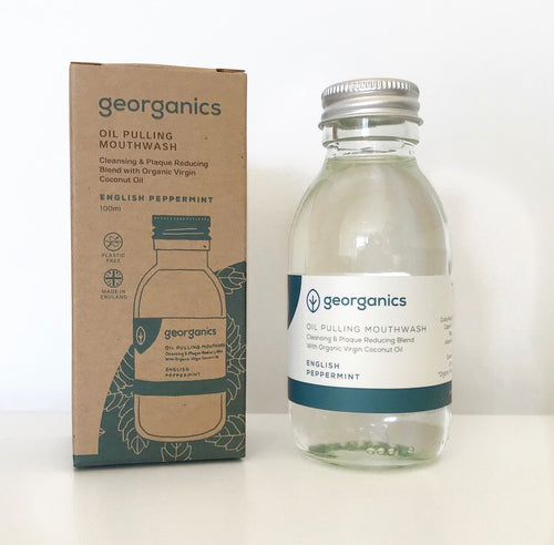 Save the Green Oil Pulling Mouthwash English Peppermint Georganics