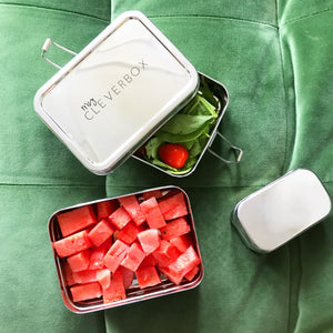 Save the Green Two Tier Stainless Steel Lunch Box My Cleverbox