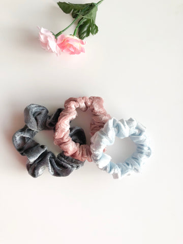 Velvet Scrunchies Value Pack (3 Pack)