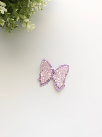 Pink/Purple Butterfly Mini Bow
