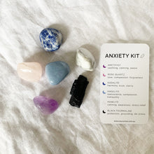 Load image into Gallery viewer, SaucyMoo Anxiety Crystal Kit with description