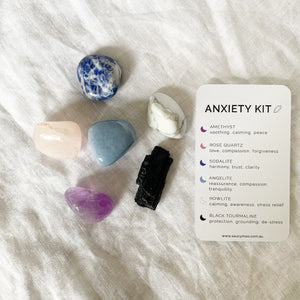 SaucyMoo Anxiety Crystal Kit with description