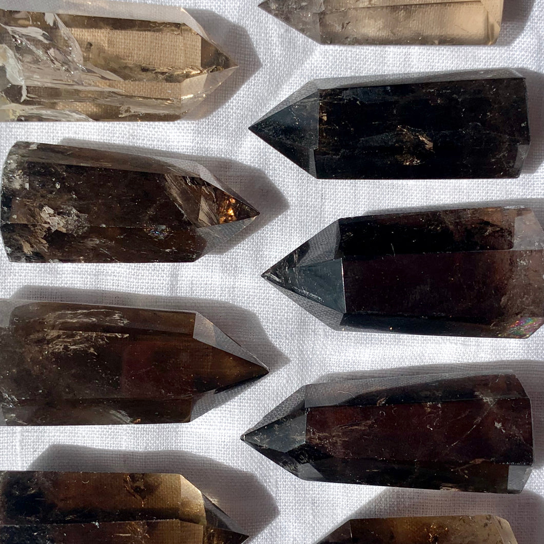 SMOKY QUARTZ POINTS - Intuitively Chosen