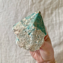 Load image into Gallery viewer, AMAZONITE HALF POLISHED POINT 1