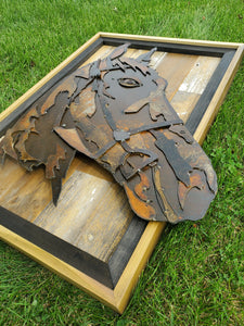 Rustic Metal Art Horse