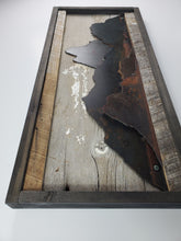 "Load image into Gallery viewer, Rustic Metal Art ""Mountain Scene"""
