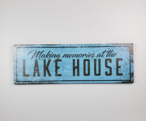 "Vintage / Distressed ""Lake House"" sign"