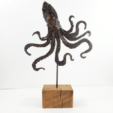 "Load image into Gallery viewer, ""Kraken"" metal art sculpture"