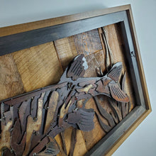 "Load image into Gallery viewer, Rustic Metal Art ""Musky"""