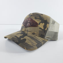 "Load image into Gallery viewer, ""The View"" Artist Series Camo Trucker Snapback Hat"