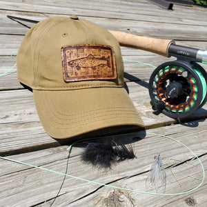 """Trout Mount"" Artist Series Waxed Canvas Hat"