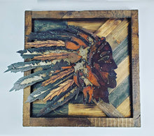 Load image into Gallery viewer, Rustic Metal Art Indian head