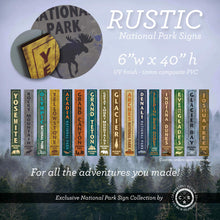 Load image into Gallery viewer, Rustic National Park Signs