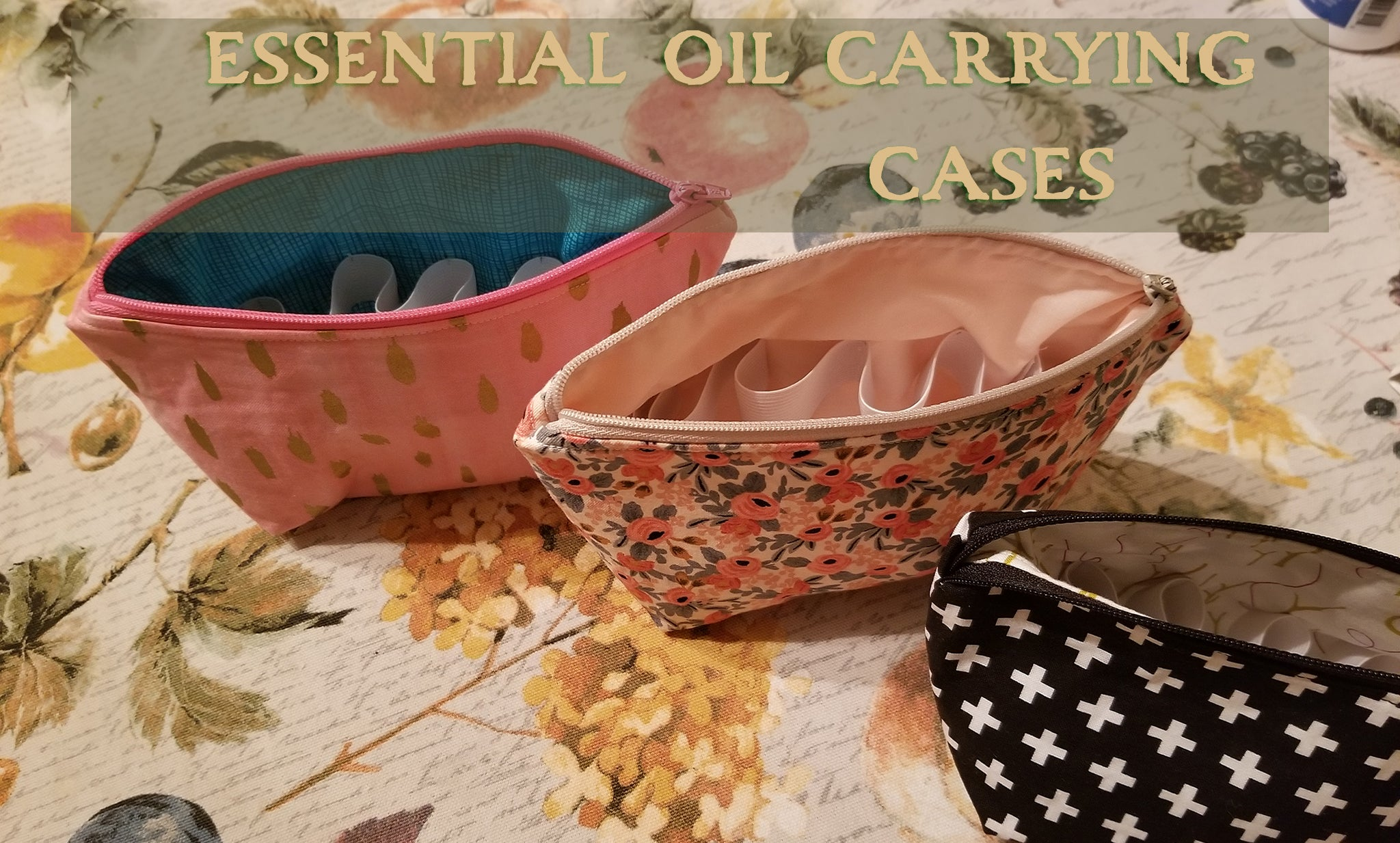 essential oil aromatherapy carrying bags with zipper