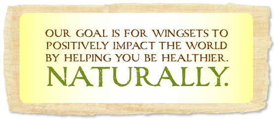 our goal is for wingsets to positively impact the world by helping you be healthier. naturally.