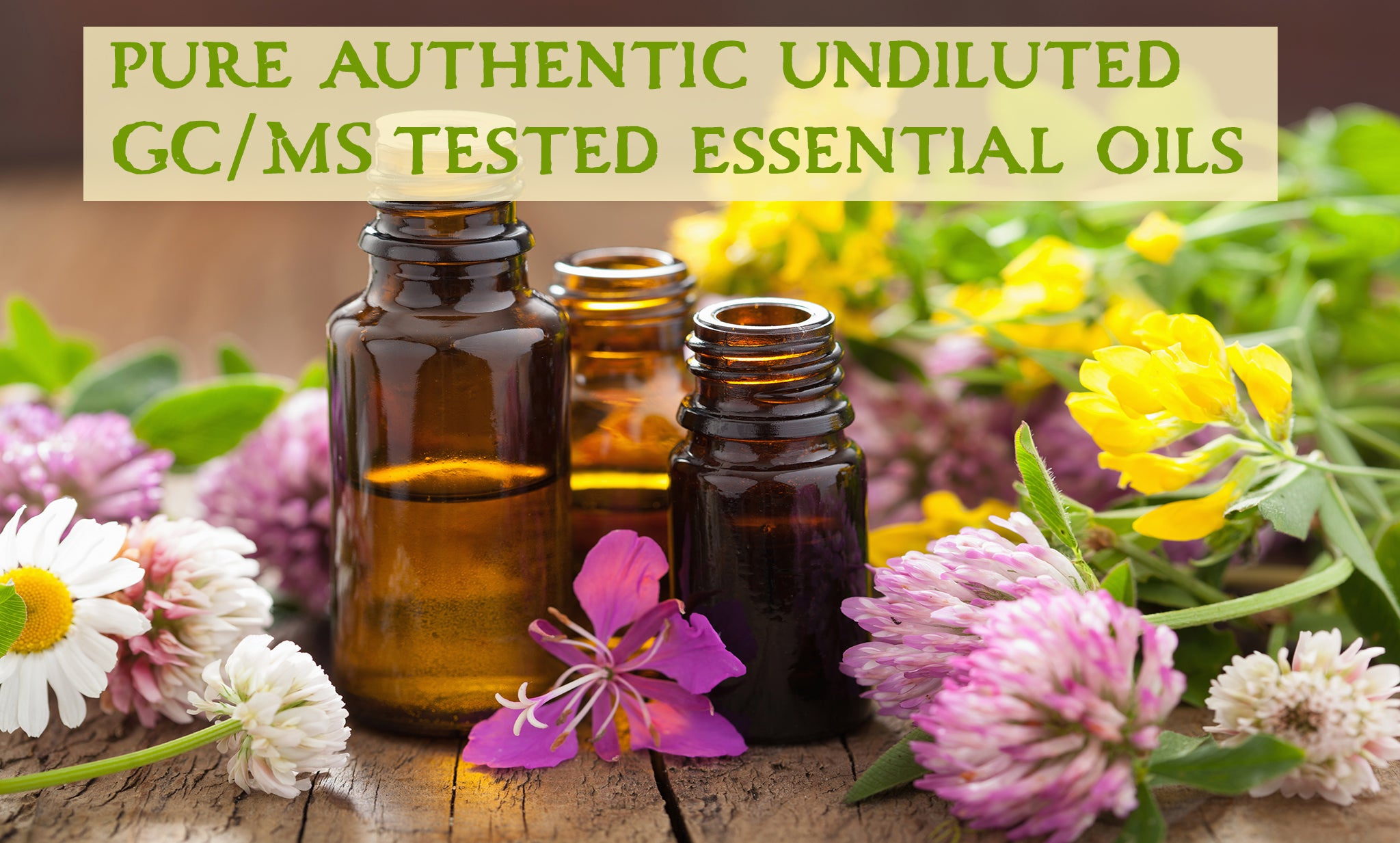 pure authentic unadulterated GC/MS tested undiluted essential oils