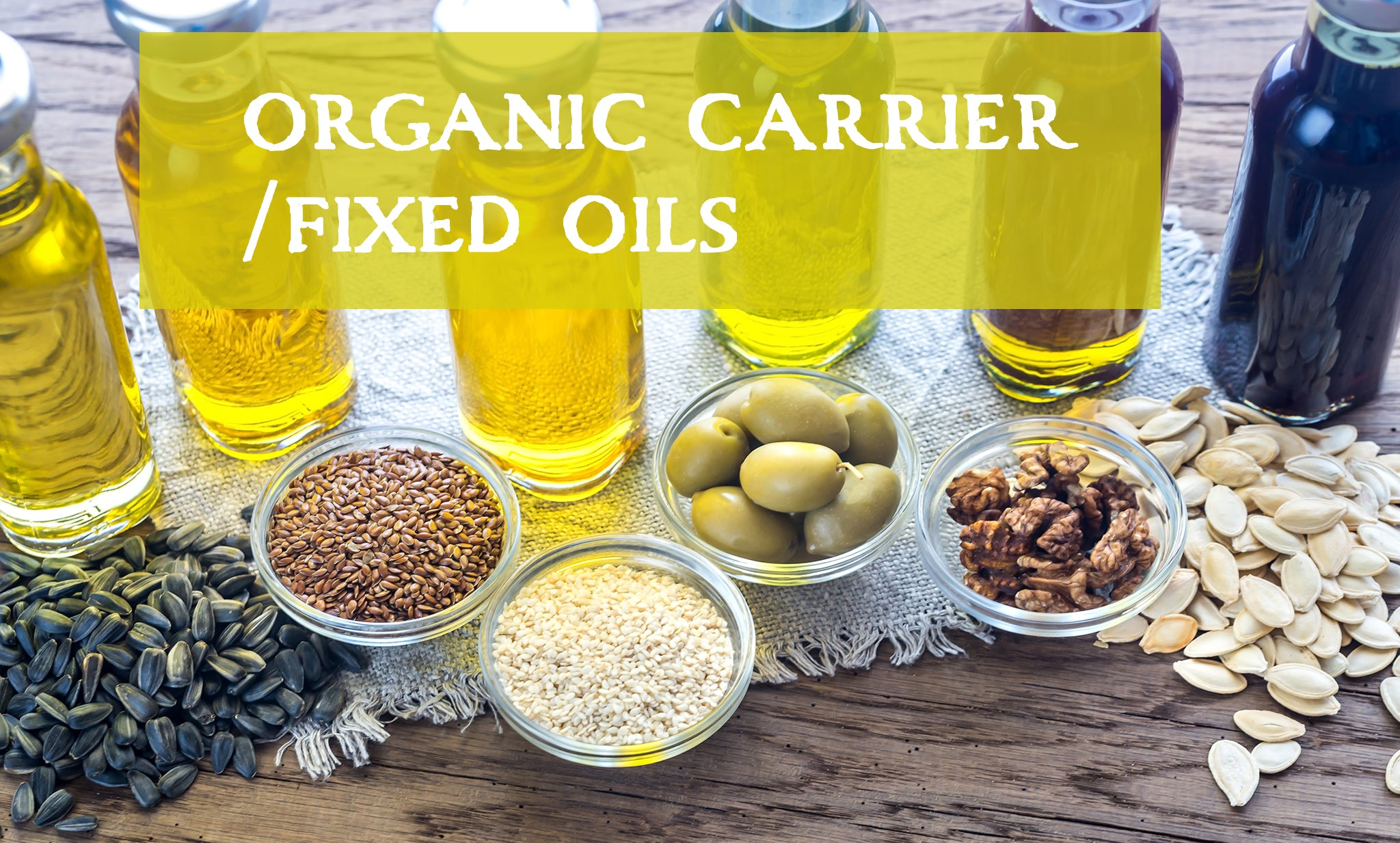 certified organic plant based carrier fixed oils for aromatherapy and skin care