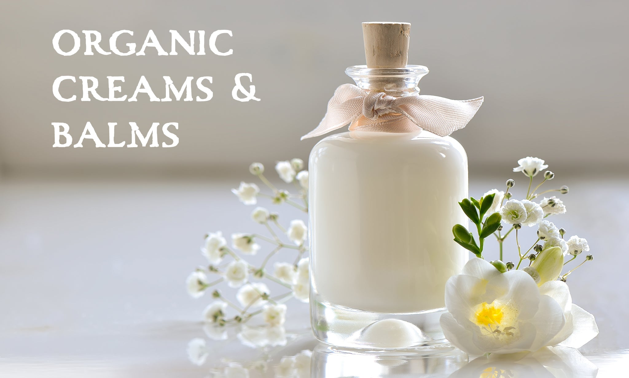 organic creams and balms handcrafted in small batches using certified organic ingredients and pure essential oils