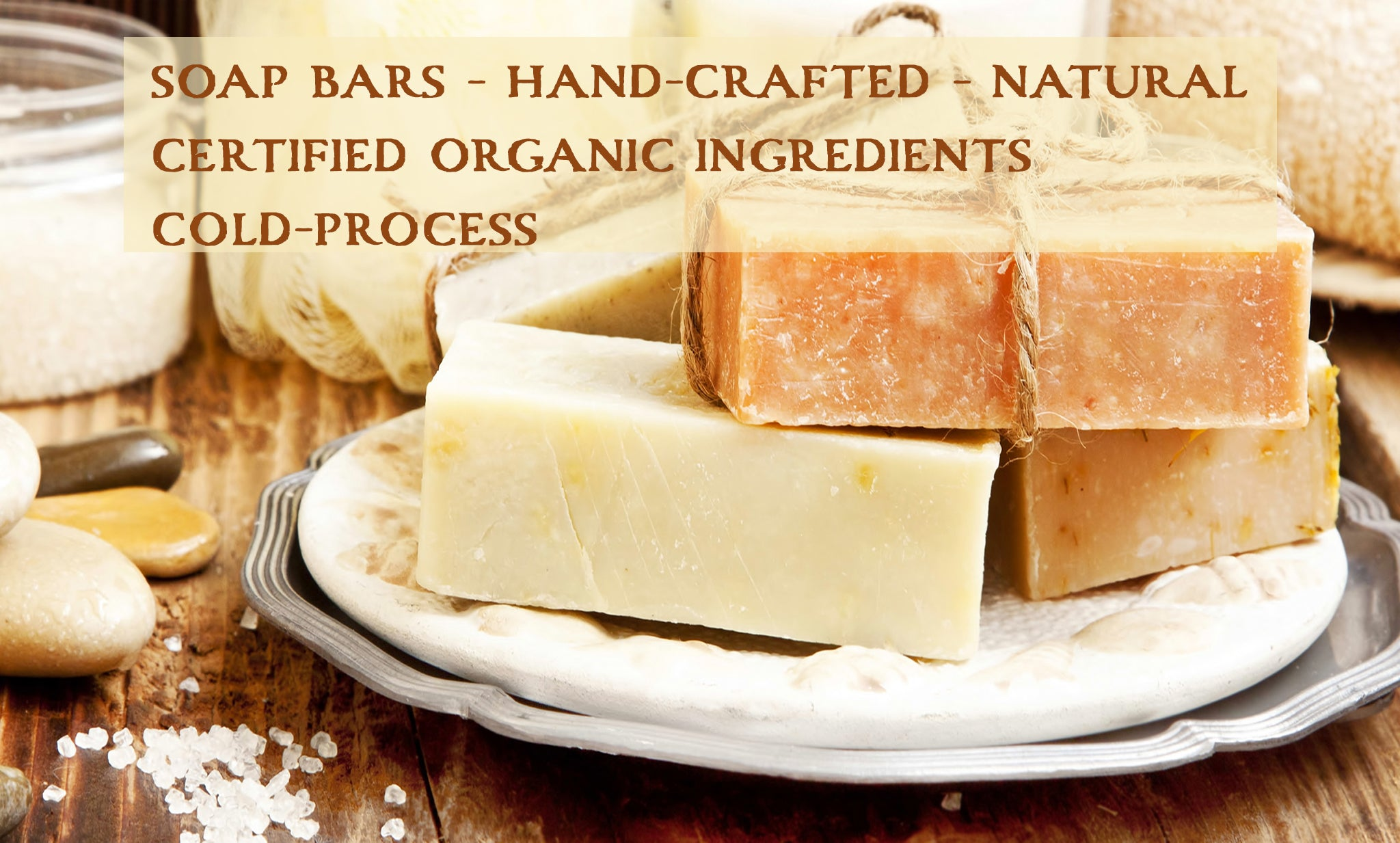 bar soap hand crafted, organic, natural, cold processed