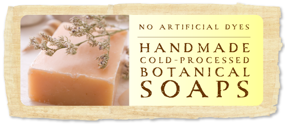 no artificial dyes, handmade cold processed botanical shea butter yucca soaps