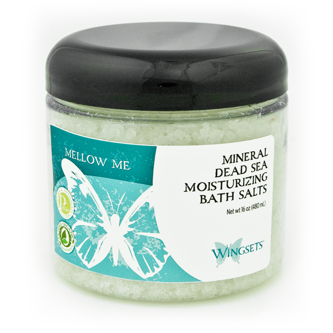 pure aromatherapy blend for monthly emotional mood swings and discomfort blended with high quality bath salts