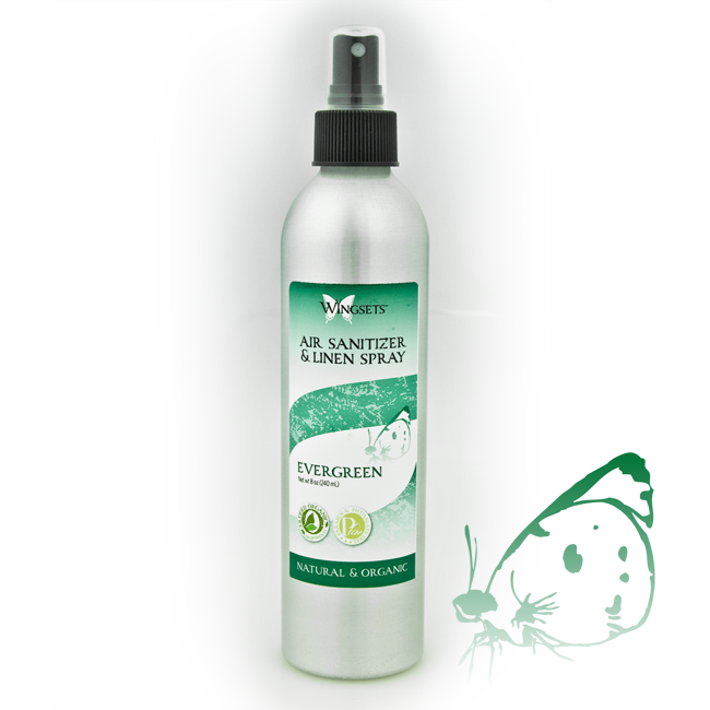 natural aromatherapy blend of pine essential oils in a room spray