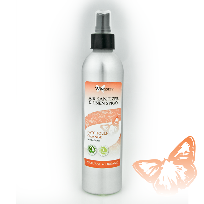 Aged patchouli and sweet orange aromatherapy room spray