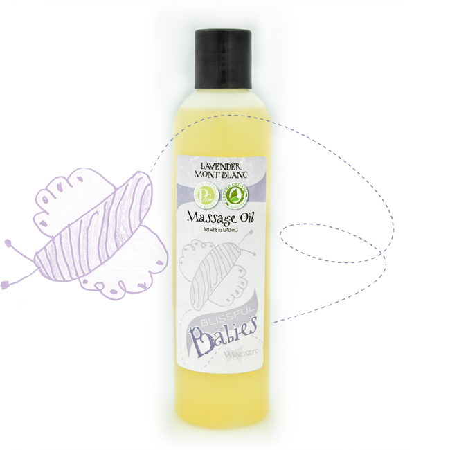 Blissful Babies Organic Massage Oil - Bulgarian Lavender