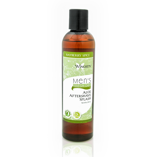 bayberry spice blended in an organic aloe vera aftershave for men