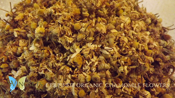 certified organic chamomile flowers