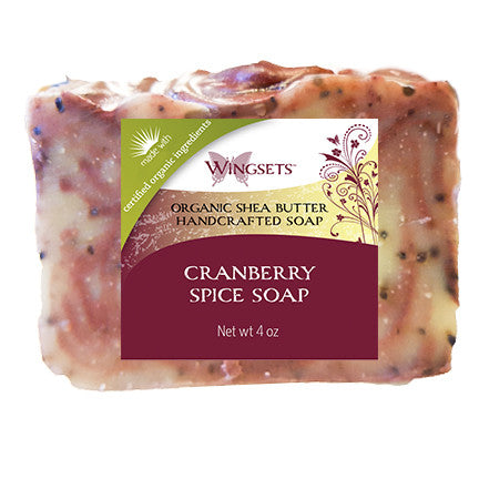 Handcrafted Cranberry Spice Soap - Organic Ingredients
