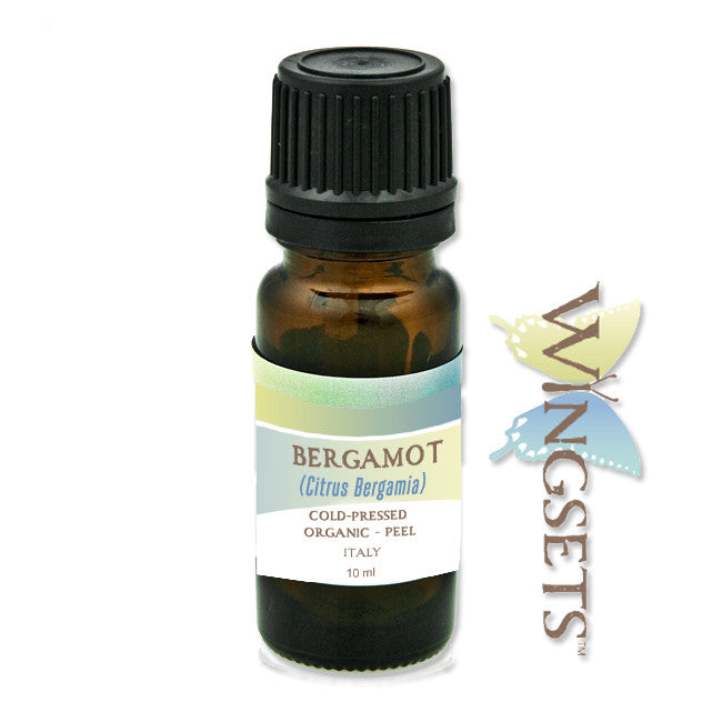 Citrus bergamia, bergamot organic essential oil, cold pressed from the organic rind