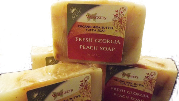 cold process handmade soap fresh georgia peach
