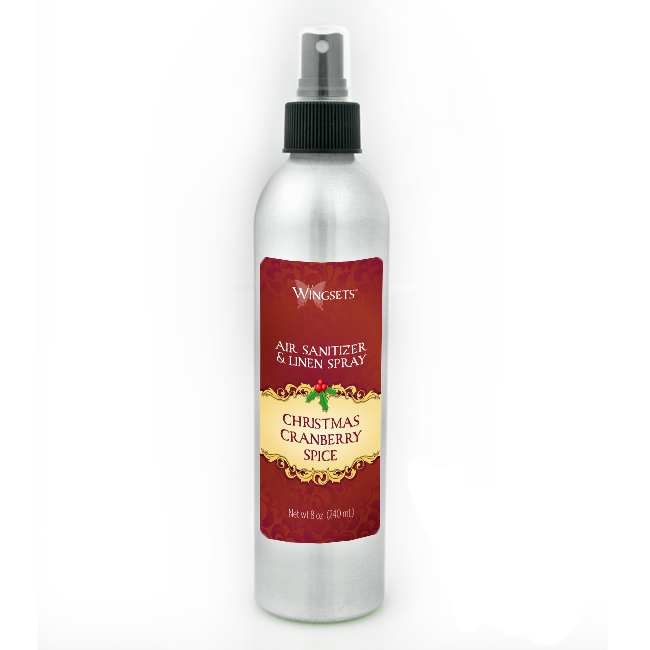Holiday Air Freshener and Linen Spray - Christmas Cranberry Spice
