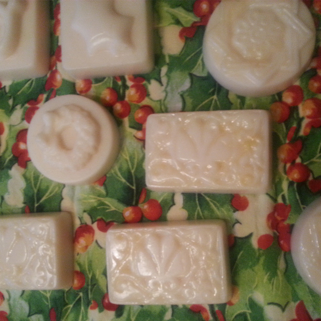 holiday, Christmas lotion bars in various shapes, certified organic  ingredients