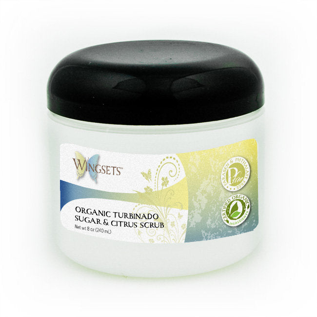 Turbinado Brown Sugar & Citrus Scrub - certified organic ingredients