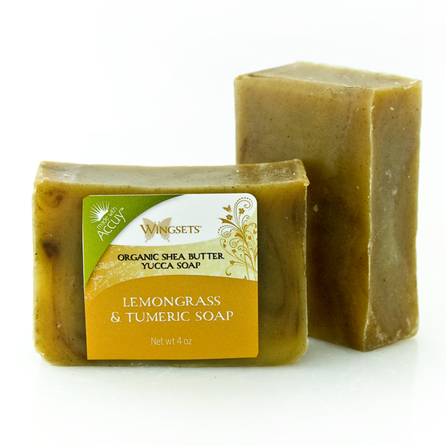 Lemongrass & Turmeric Soap - certified organic ingredients