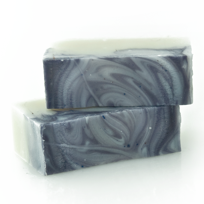 beautiful lavender swirled handmade organic soap for babies